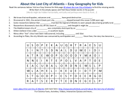 About the Lost City of Atlantis – Easy Geography for Kids