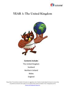 YEAR 1: The United Kingdom