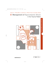 Management of Hypovolaemic Shock in the Trauma Patient (Full