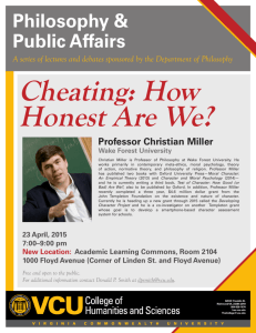 Cheating: How Honest Are We?