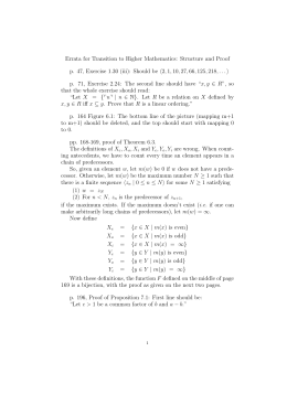 Errata for Transition to Higher Mathematics: Structure and Proof p