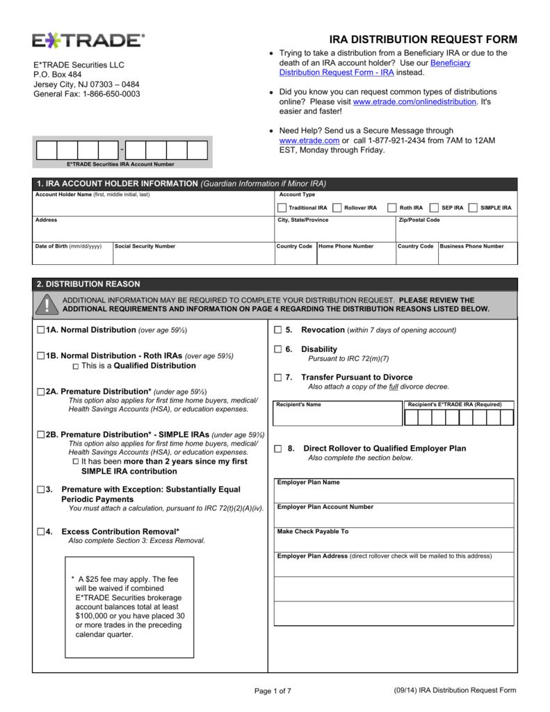 Ira distribution request form falaconquin