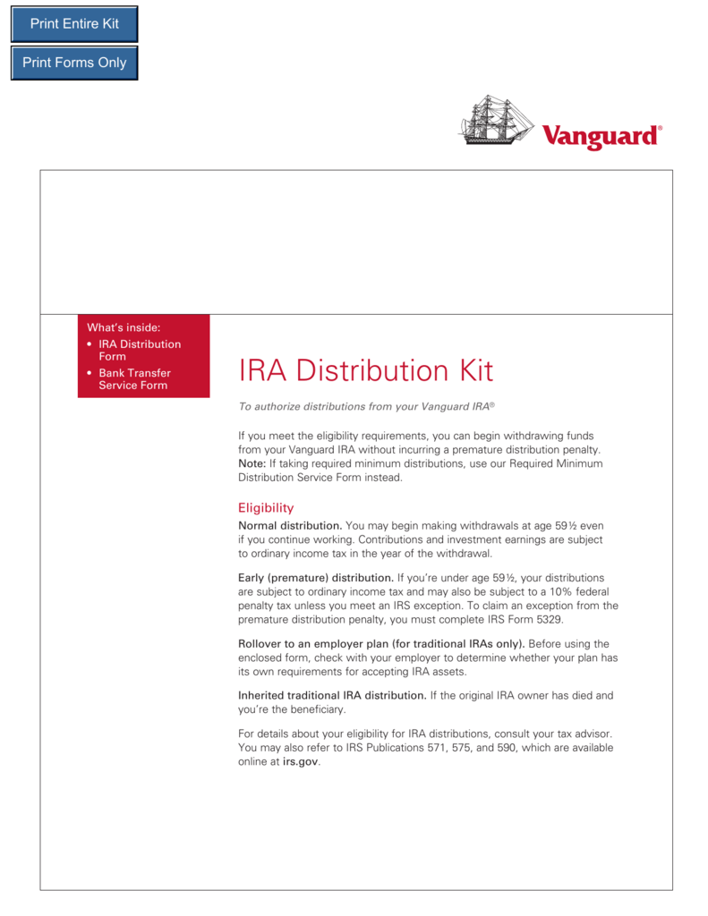 Ira Distribution Kit