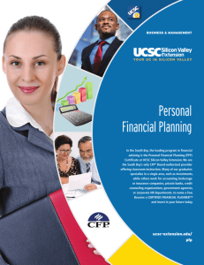 Personal Financial Planning - UCSC Extension Silicon Valley