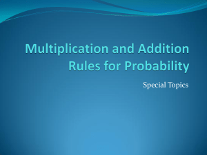 Multiplication and Addition Rules for Probability