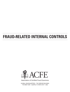 fRAuD-RELAtED INtERNAL CONtROLS