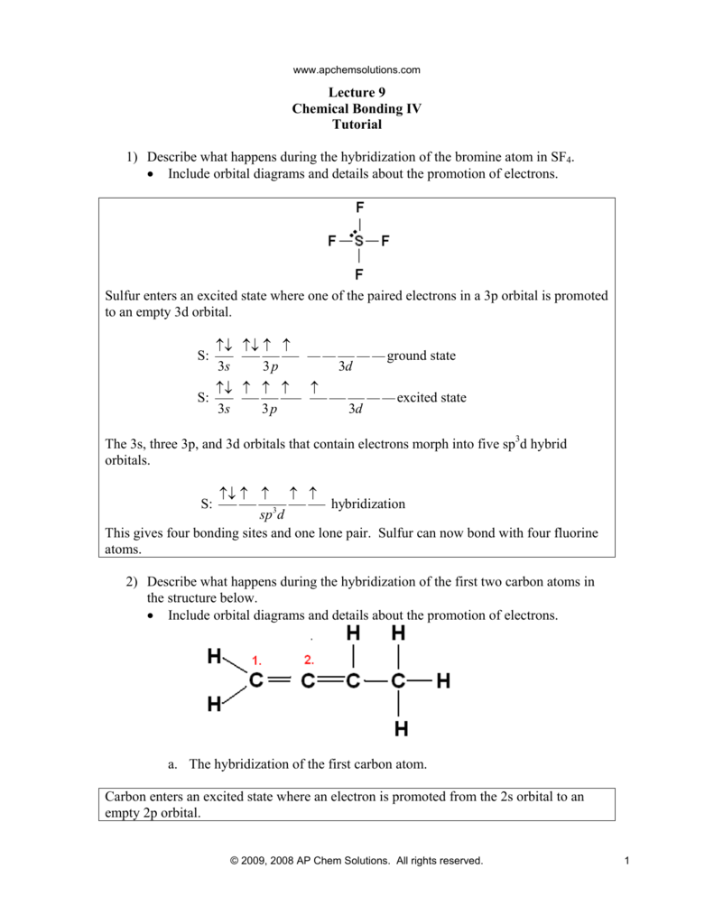 Lecture 9 Chemical Bonding IV