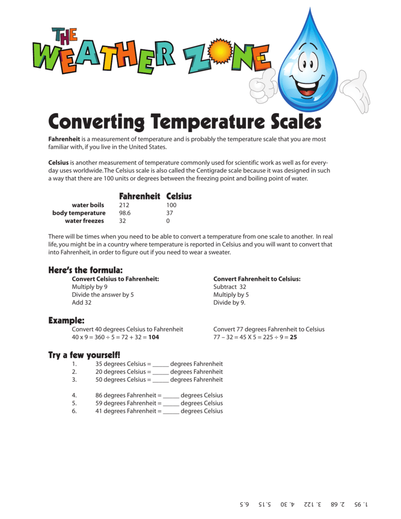 Converting Temperature Scales