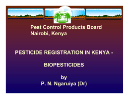 Pest control Products board Nairobi, Kenya - IR-4