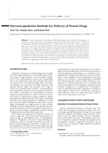 Microencapsulation Methods for Delivery of Protein Drugs