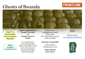 ghosts of rwanda ad - Amnesty International USA