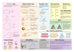 Perimeter / Area Volume & Surface Area Compound Shapes 3D