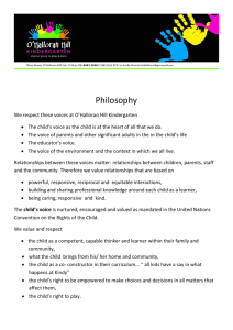 Philosophy - O'Halloran Hill Kindergarten