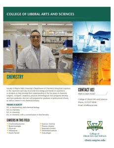 chemistry - College of Liberal Arts and Sciences