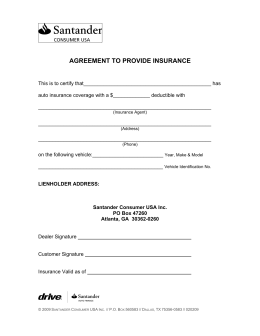 AGREEMENT TO PROVIDE INSURANCE