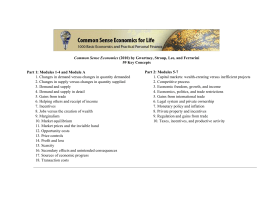 Common Sense Economics (2010) by Gwartney, Stroup, Lee, and