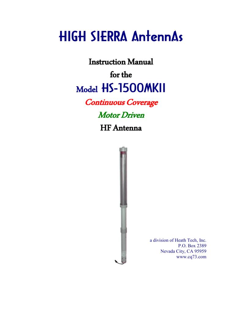 HS-1500 Antenna