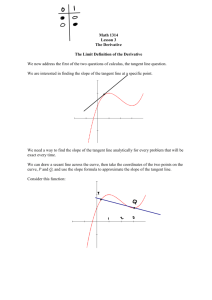 Math 1314 Lesson 3 The Derivative The Limit Definition of the
