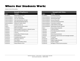 Where Our Students Work - Richard Stockton College of New Jersey