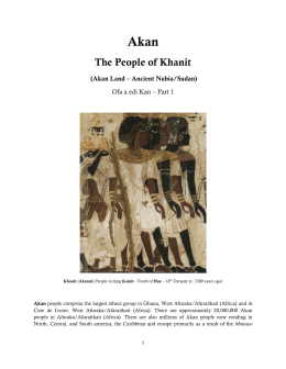 Akan - The People of Khanit (Akan Land - Ancient Nubia