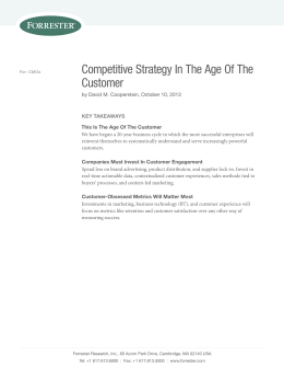 Competitive Strategy in the Age of the Customer Report