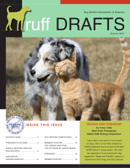 This Issue - Dog Writers Association of America