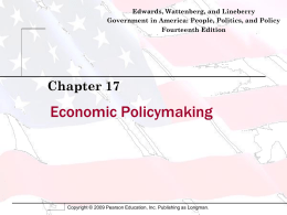 Economic Policymaking