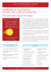J-1684 Problems & Solutions In Electric Circuit