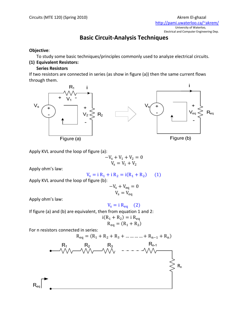 Basic Circuit-Analysis Techniques
