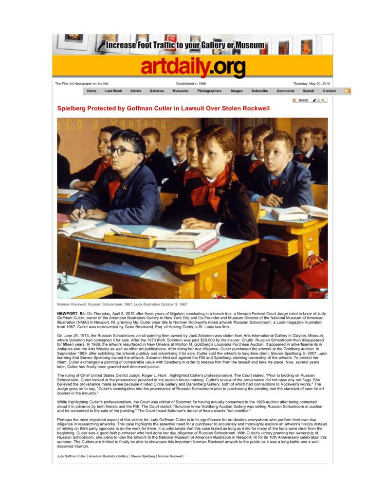 Norman Rockwell Russian Schoolroom
