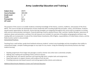 Army: Leadership Education and Training 1