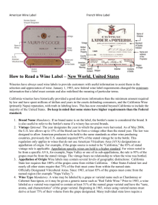 How to Read a Wine Label – New World, United