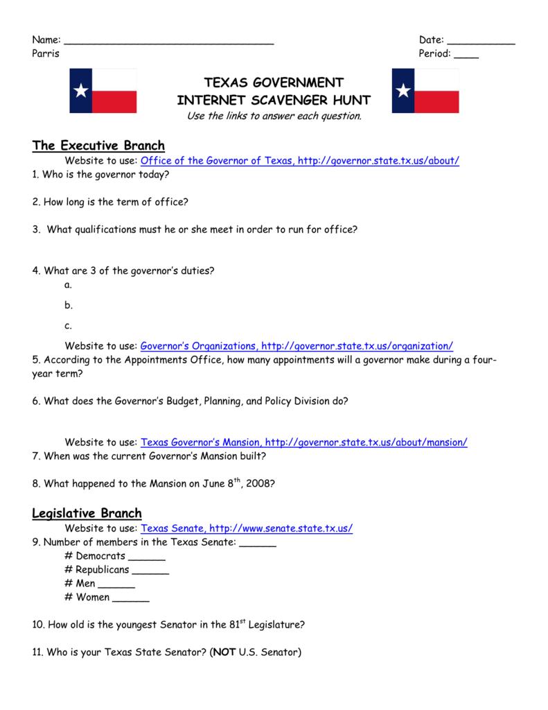 texas governor duties