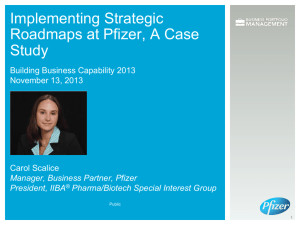 Implementing Strategic Roadmaps at Pfizer, A Case Study
