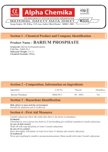 Product Name : BARIUM PHOSPHATE