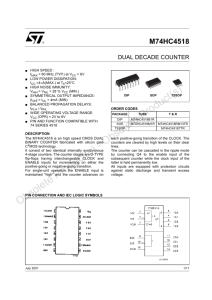 Dual decade counter - STMicroelectronics