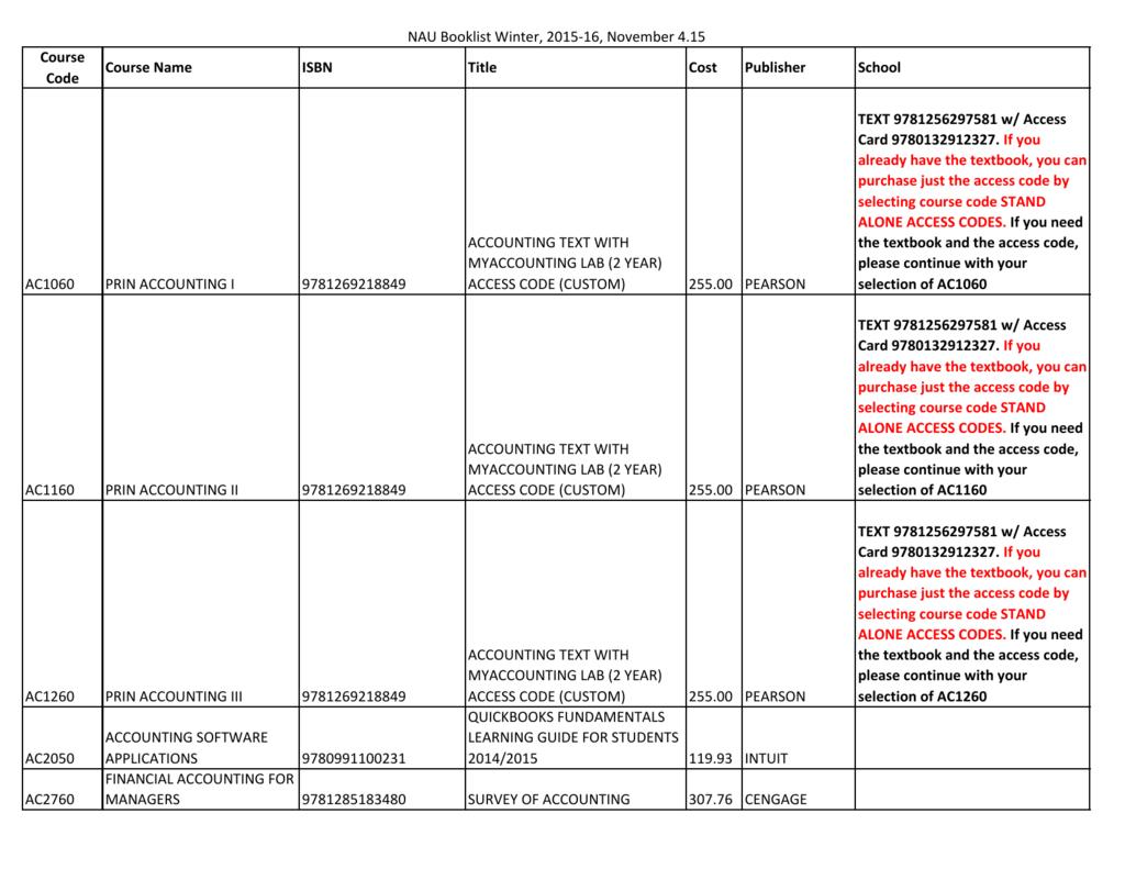 Book List - National American University