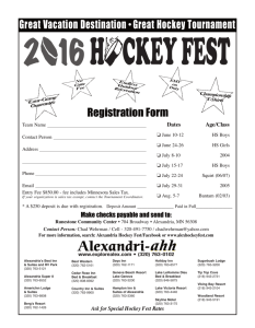 Registration - Alexandria Hockey Fest