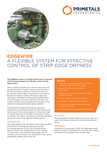 EDGEWIPE A FLEXIBLE SYSTEM FOR EFFECTIVE CONTROL OF