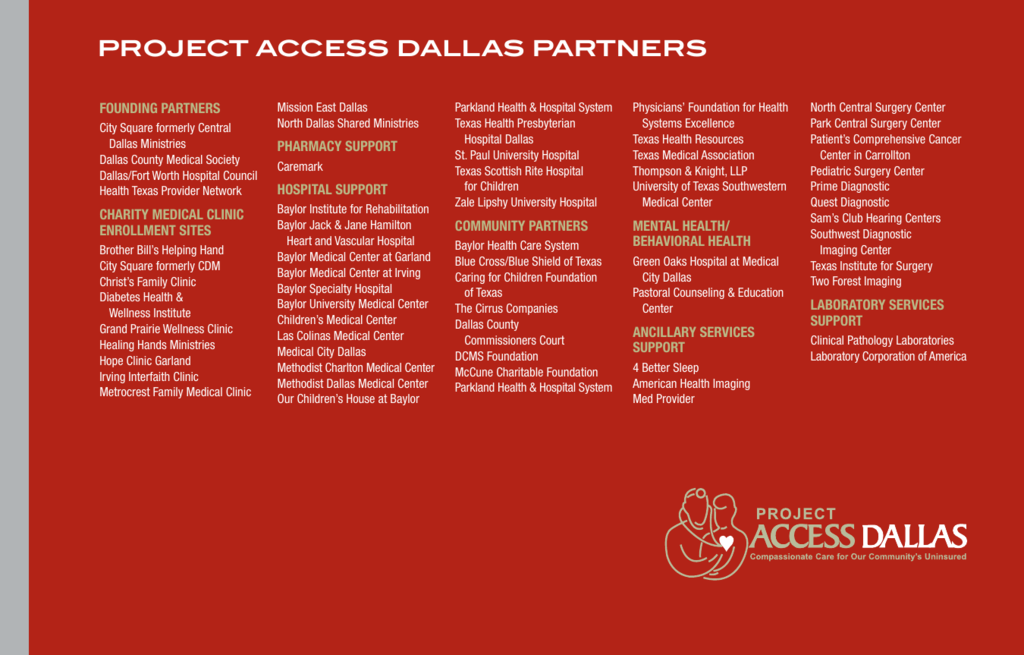 Project Access DAllAs PArtners - Dallas County Medical Society