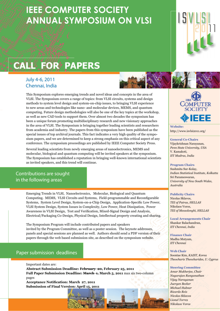 You Can The Call For Papers As A Pdf Here