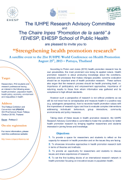 Strengthening health promotion research