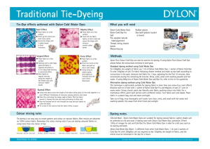 Traditional Tie-Dyeing