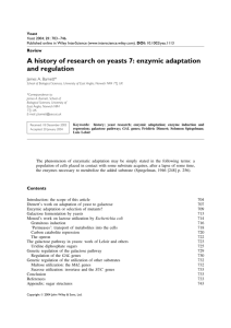 A history of research on yeasts 7: enzymic adaptation and regulation