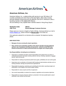 South East Asia - American Airlines