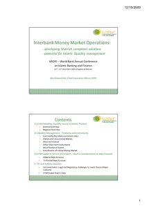 Interbank Money Market Potential AAOIFI-World Bank