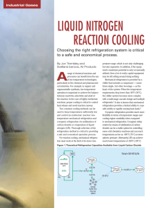 liquid nitrogen reaction cooling - Air Products and Chemicals, Inc.