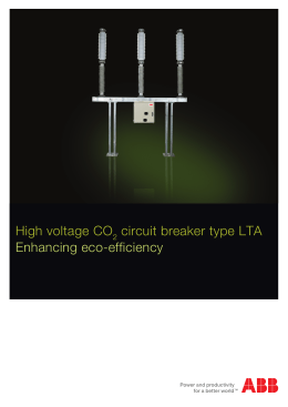 High voltage CO circuit breaker type LTA Enhancing