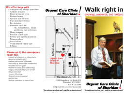 Walk right in - South Sheridan Medical Center