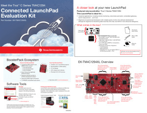 Tiva C Series TM4C123G LaunchPad Evaluation Kit User`s Manual